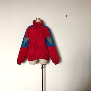 Vintage 80s Red Puffer Ski Jacket